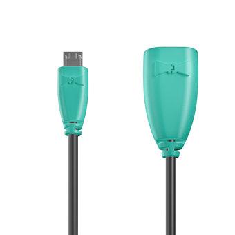 Câble OTG (Type Micro) 1m Bluemint et Noir (marquage image «bestdadinthegalaxy»)