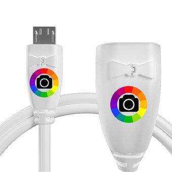Personnalisez votre câble otg (type micro) pour samsung galaxy note 10.1 (2014 edition) : couleurs, longueur et marquage des prises.