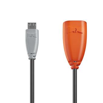 Câble OTG (Type Micro) 1m Gris, Noir et Orange (marquage image «swrebels»)