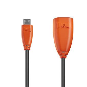 Câble OTG (Type Micro) 1m Orange et Noir (sans marquage)