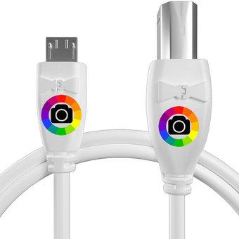 Personnalisez votre câble otg (type micro vers b) : couleurs, longueur et marquage des prises.