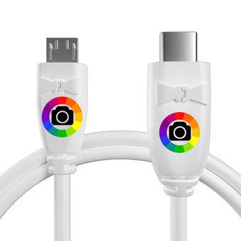 Personnalisez votre câble otg (type micro vers c) : couleurs, longueur et marquage des prises.