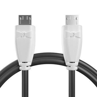 Câble OTG (Type Micro vers Micro) pour DJI Spark Blanc et Noir - 20cm