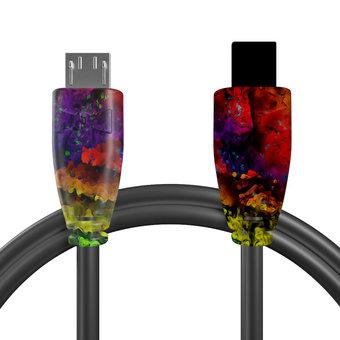 Câble OTG (Type Micro vers Mini) Multicouleurs et Noir - 10cm