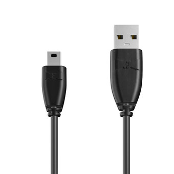 Câble Mini USB 1m Noir (sans marquage)