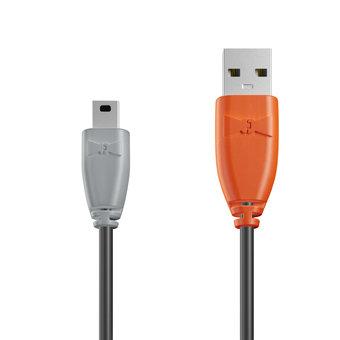 Câble Mini USB 1m Gris, Noir et Orange (marquage image «swrebels»)