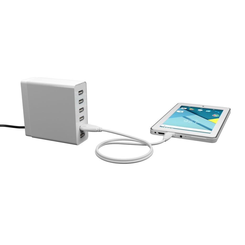 Câble iPhone iPad 1m Blanc () - Vue en utilisation